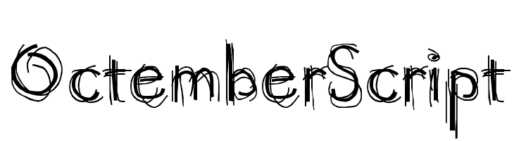 OctemberScript  font caratteri gratis