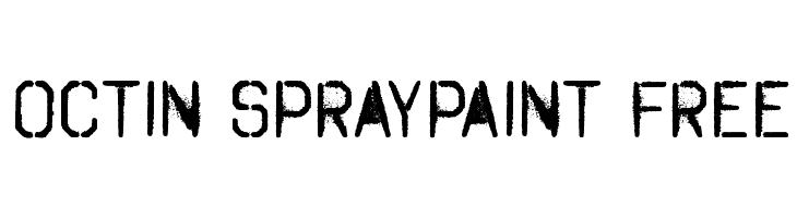 Octin Spraypaint Free  Скачать бесплатные шрифты
