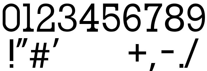 oce slab serif Шрифта ДРУГИЕ символов