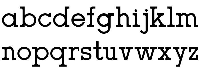 oce slab serif Fuentes MINÚSCULAS
