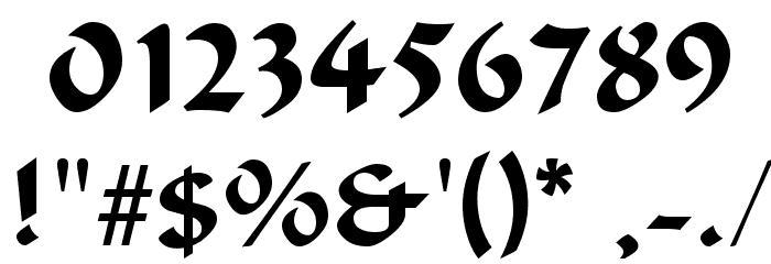 Odana Font OTHER CHARS