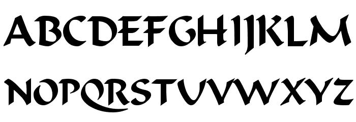 Odana Font UPPERCASE