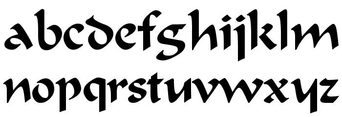 Odana Font LOWERCASE