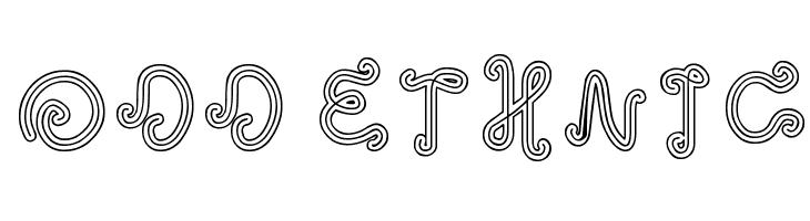 odd ethnic  Free Fonts Download