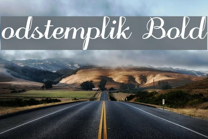 odstemplik Bold لخطوط تنزيل examples