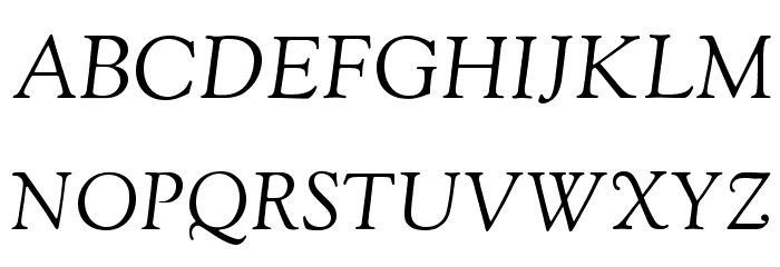 OFL Sorts Mill Goudy Italic Font UPPERCASE