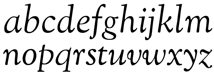 OFL Sorts Mill Goudy Italic Font LOWERCASE