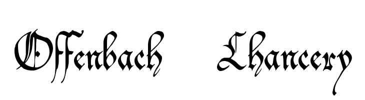 Offenbach Chancery  Скачать бесплатные шрифты