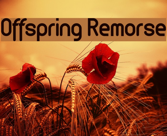 Offspring Remorse Font examples