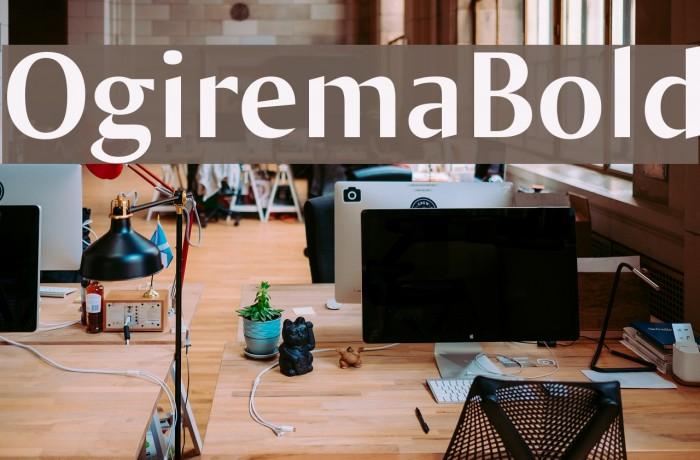 OgiremaBold Font examples