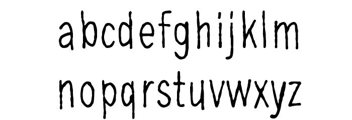 Ohimennen, tunteella Шрифта строчной