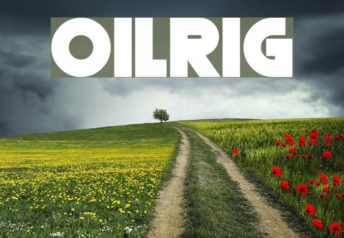 Oilrig फ़ॉन्ट examples
