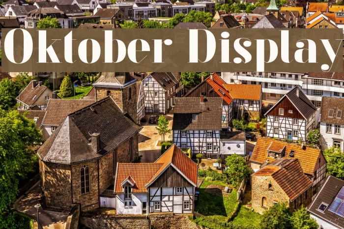 Oktober Display Fuentes examples