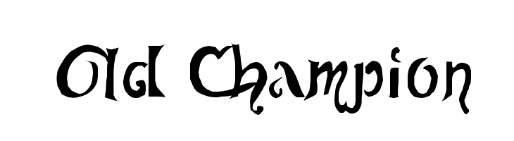 Old Champion Font - free fonts download