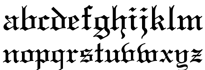 Old English Font LOWERCASE