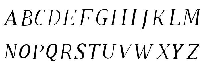 Old Klarheit Regular Font UPPERCASE