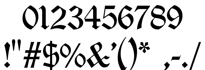 Old London フォント その他の文字