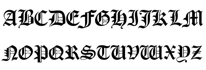 Old London フォント 大文字