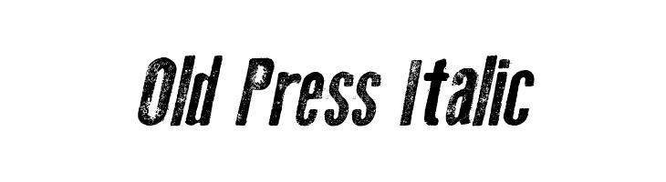 Old Press Italic  Free Fonts Download