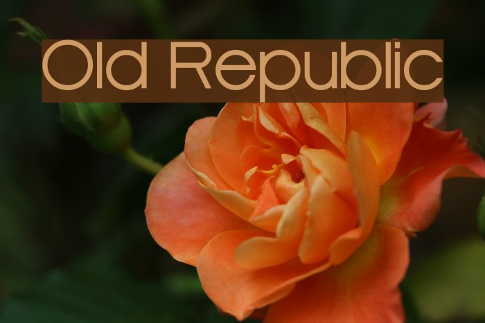 Old Republic Font examples