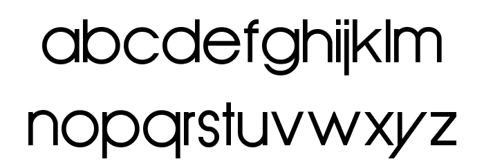Old Republic Font LOWERCASE