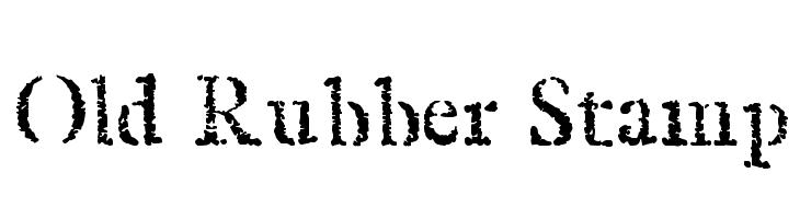Old Rubber Stamp Font - free fonts download
