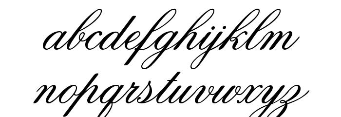 Old Script Fonte MINÚSCULAS