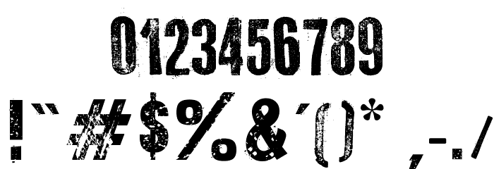 Old Typography Шрифта ДРУГИЕ символов