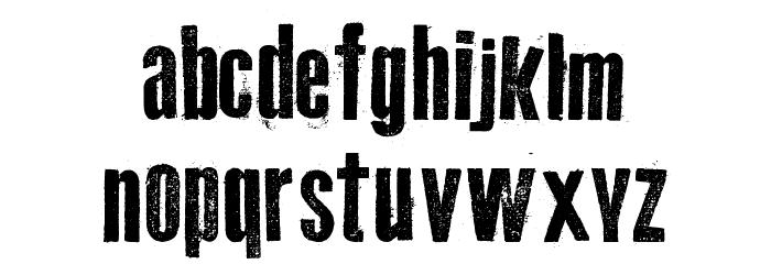 Old Typography Шрифта строчной