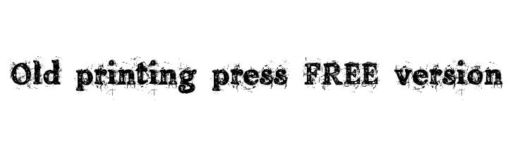 Old printing press_FREE-version  Fuentes Gratis Descargar