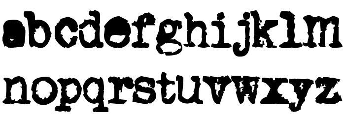 Old typewriter Font LOWERCASE