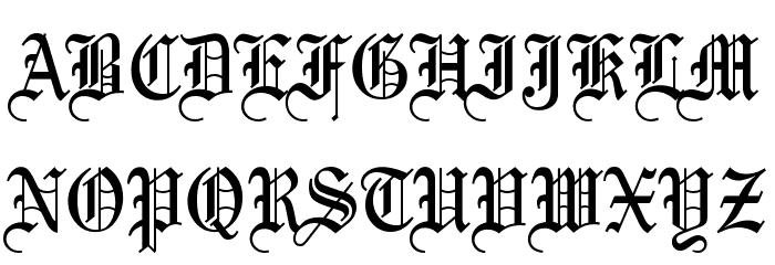 Olde English Font UPPERCASE