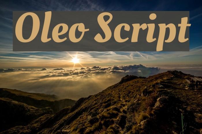 Oleo Script لخطوط تنزيل examples