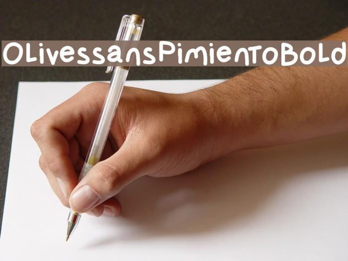 OlivessansPimientoBold फ़ॉन्ट examples