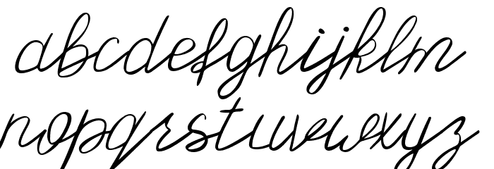 Olster 字体 小写
