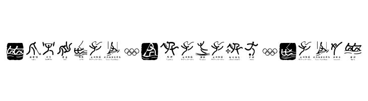 Olympic Beijing Picto  Frei Schriftart Herunterladen
