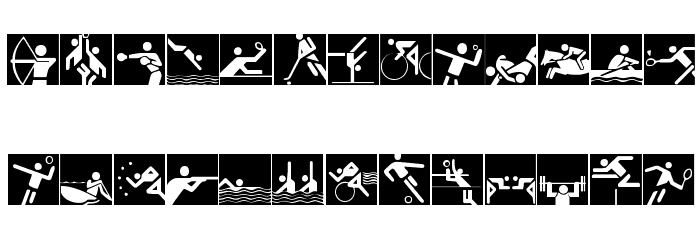 Olympicons 2 Font UPPERCASE