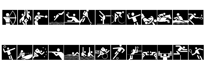 Olympicons 2 Font LOWERCASE