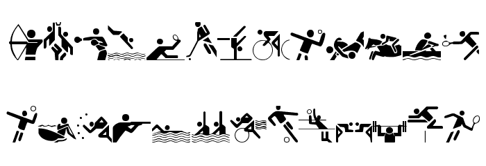 Olympicons Regular Font UPPERCASE