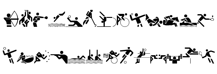 Olympicons Regular Font LOWERCASE