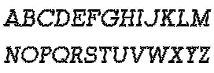 Onderneming Italic Font UPPERCASE