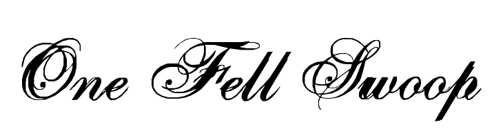One Fell Swoop  Free Fonts Download
