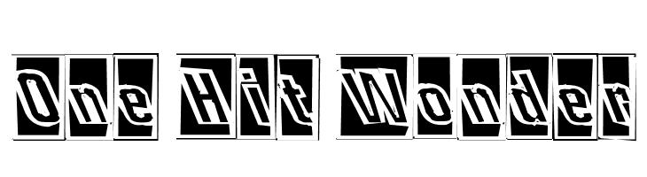 One Hit Wonder  Free Fonts Download