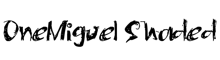 OneMiguel Shaded  Скачать бесплатные шрифты