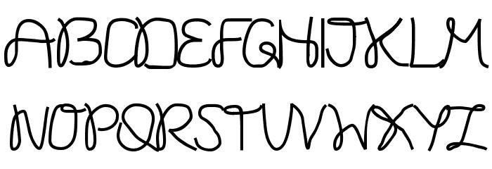 Onestroke Font UPPERCASE