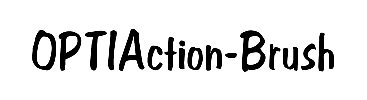 OPTIAction-Brush  Free Fonts Download