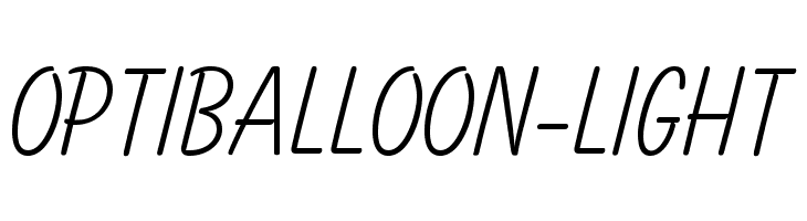 OPTIBalloon-Light  baixar fontes gratis