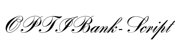 OPTIBank-Script  Скачать бесплатные шрифты