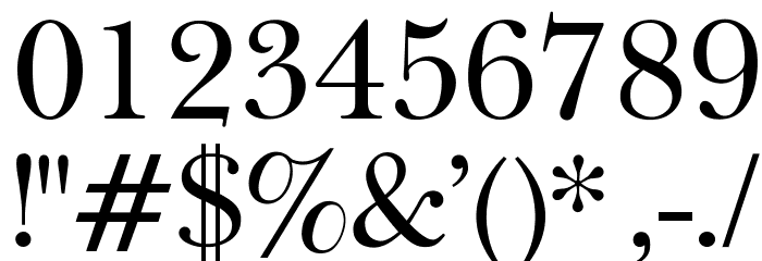 OPTIBaskerVille Font OTHER CHARS