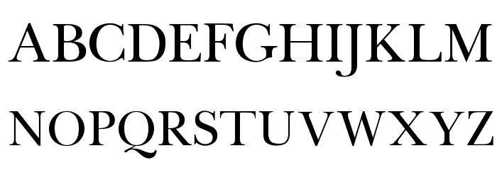 OPTIBaskerVille Font UPPERCASE